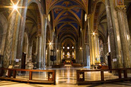minerva: Interior of Santa Maria Sopra Minerva. The Minerva is the only extant example of original Gothic church building in Rome.