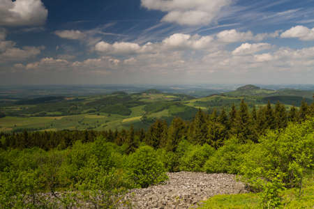 hessen: Viewpoint Wasserkuppe of the Rhoen low mountain range, Hessen, Germany