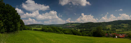 hessen: Panorama of the Hoherodskopf peak, Vogelsberg, Hessen, Germany