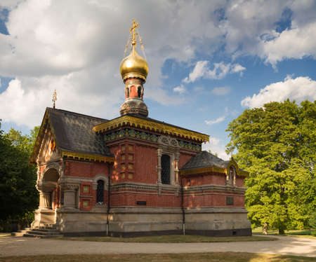 hessen: Russian chapel in the summer, Bad Homburg, Hessen, Germany