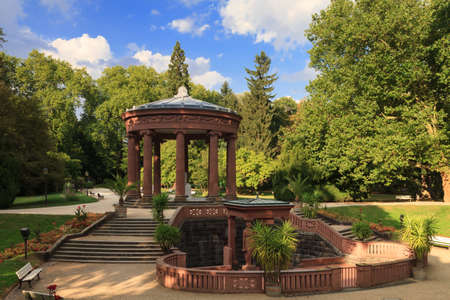 hessen: Temple in the park of Bad Homburg in summer, Hessen, Germany