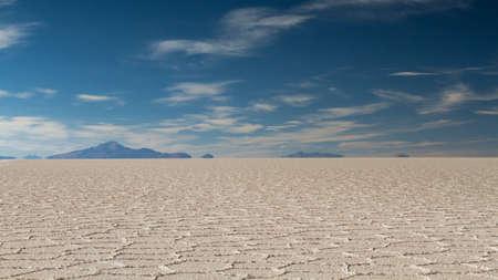 fata morgana: Mirage of mountains at Salar de Uyuni, Altiplano, Bolivia Stock Photo
