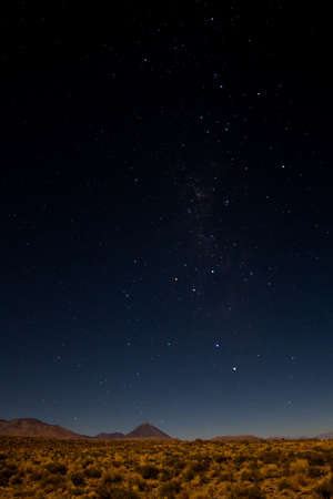 Starry night over the Atacama desert, Chile Stock Photo
