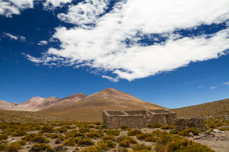 Mining ghost town in the Altiplano, Bolivia