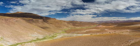 Panorama of the San Agustin valley, Altiplano, Bolivia