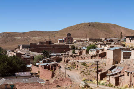 Mining town of Pulacayo in the Altiplano, Bolivia