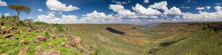 Panorama of the Grootberg mountain range, Damaraland, Namibia, Africa