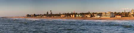 Panorama of the coastline of Swakopmund, Namibia, Africa Stock Photo