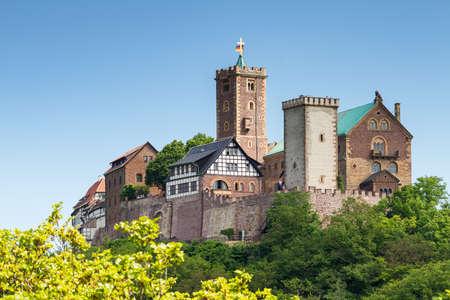 유명한 Wartburg- 세계 문화 유산 사이트, 튀 링겐, 독일의보기