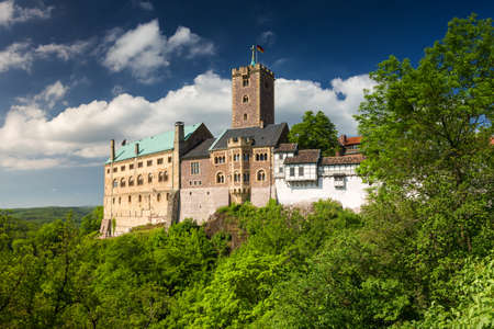 有名なヴァルトブルク - 世界遺産、ドイツ ・ テューリンゲン州の表示