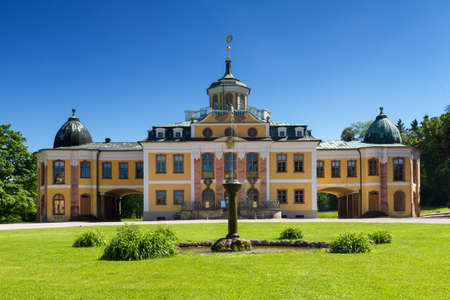 Panorama of Baroque Schloss Belvedere, Weimar, Thuringia, Germany Stock Photo