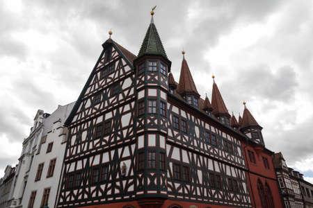 Fulda, Hesse, Germany의 오래된 시민 회관 스톡 콘텐츠