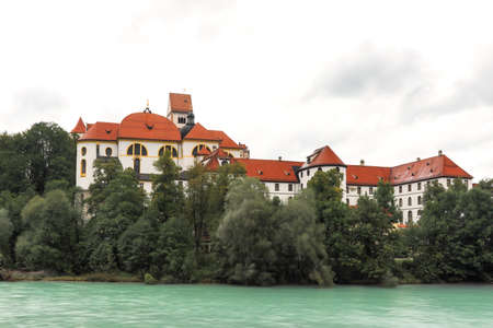 Monastery St. Mang at the river Lech, Fuessen, Bavaria, Germany