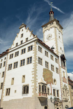 Medieval town hall of Wuerzburg, Bavaria, Germany
