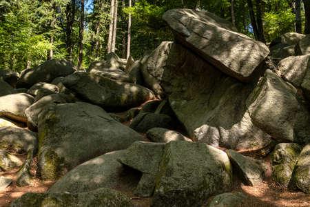 Boulder stream of Lautertal, Odenwald, Hesse, Germany