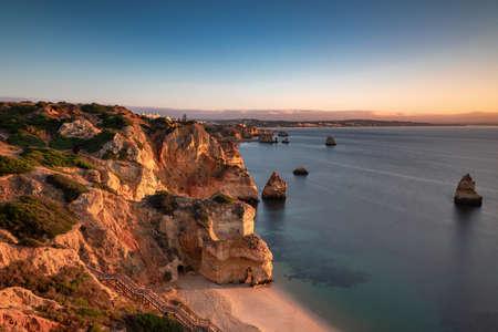 Praia do Camilo in the morning light, Lagos, Algarve, Portugal