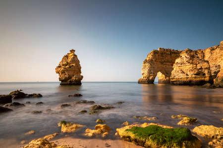 Beautiful rocks at Praia da Marinha, Lagoa, Algarve, Portugal