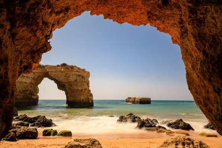 Stone arch at Praia de Albandeira, Lagoa, Algarve, Portugal