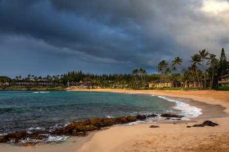 Beach at Napili Bay ain the morning light, Maui, Hawaii, United States