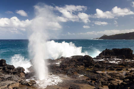 Nakalele Blowhole on the northern coast of Maui, Hawaii