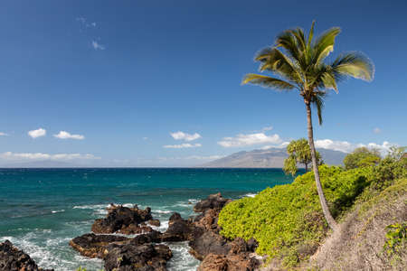 Coastline at Wailea point, Maui, Hawaii