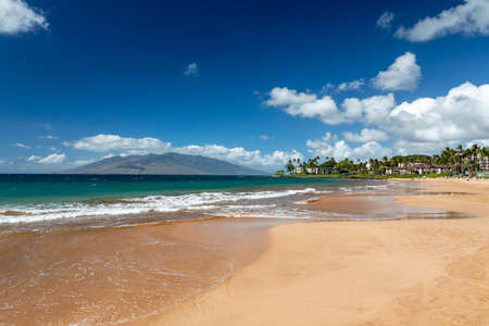 Beautiful Wailea beach  on the island of Maui, Hawaii