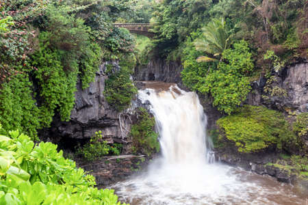 Flash flood at the Seven Sacred Pools Maui, Hawaii