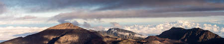 Panorama of the Haleakala crater, Maui, Hawaii, United States Stok Fotoğraf