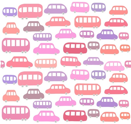 만화 자동차와 원활한 패턴