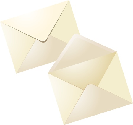 Web vector icons  closed envelope and open envelope Illustration