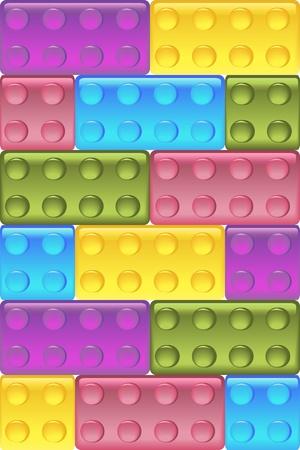 Glass construction blocks  Seamless vector Illustration