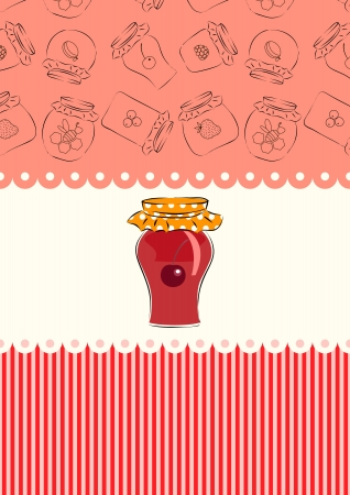 cherry jam Illustration
