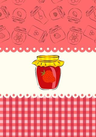 mermelada de fresa Vectores