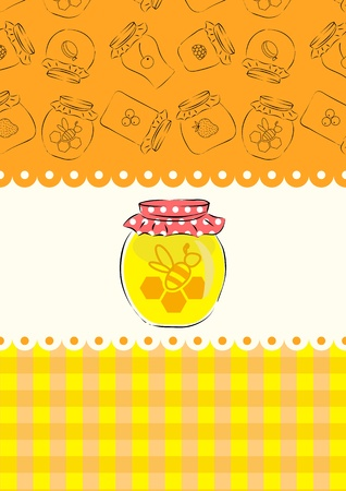Honey jar Vector