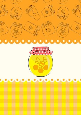 jam jar: Honey jar Illustration
