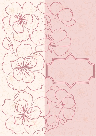 Beautiful floral  card Stock Vector - 17967961