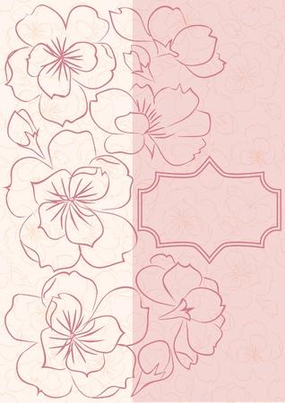 Tarjeta floral hermosa