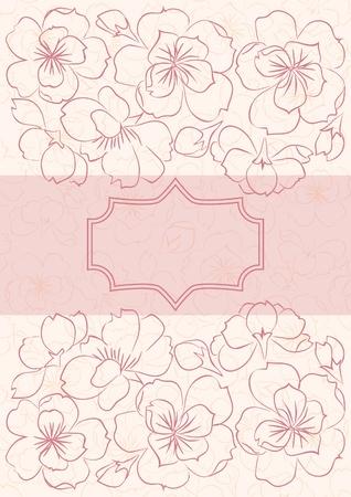 Beautiful floral  card Illustration