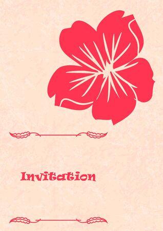 Boda tarjeta o invitaci?n con el fondo floral abstracto