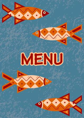 Menu - Fish Vectores