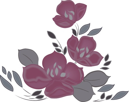 Dibujo a mano de flores Elemento para el dise�o ilustraci�n vectorial