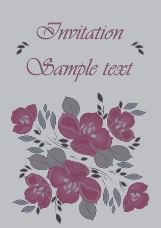 card with floral pattern and text  Stock Vector - 19324548