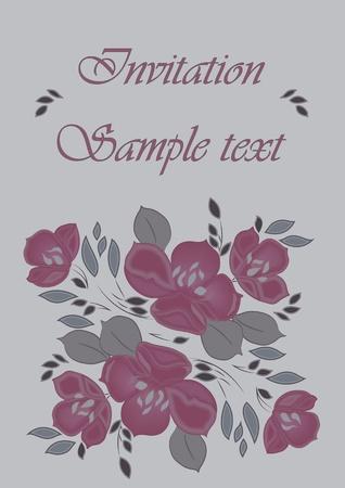 tarjeta con el patr�n y el texto floral