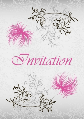 card with floral pattern and text  Stock Vector - 19586051