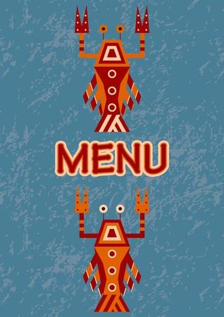 menu with seafood