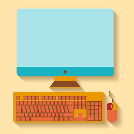 Flat design  Using a desktop PC