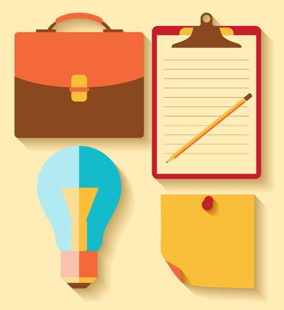 Elementos de dise�o plano y los iconos de color para los negocios Vectores