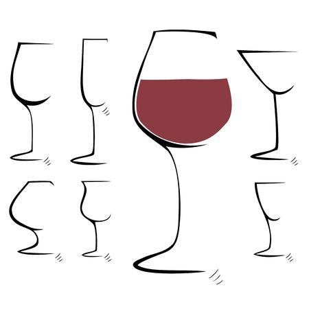 Dibujo a mano Set boceto de copa, ilustraci�n copa