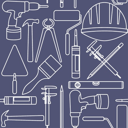 Flat design  Seamless pattern of graphic house repair icons Illustration