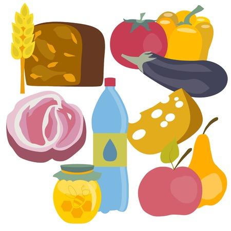Alimentos sanos aisladas sobre fondo blanco